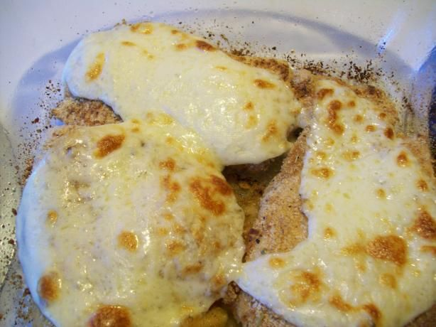 Provolone Chicken. Yummy yummy yummy. I added garlic salt & recommend adding the cheese after 5 minutes =)