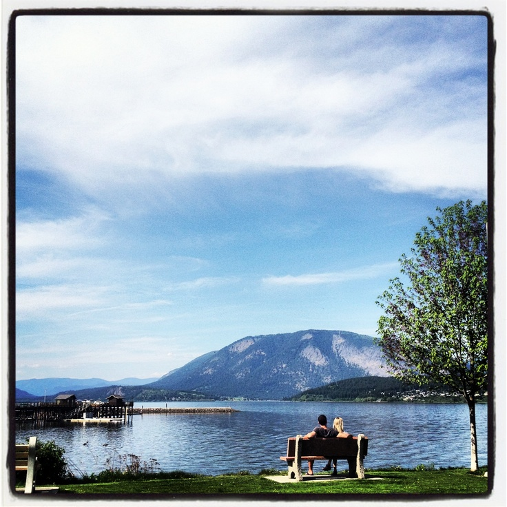 Spring time love by the pier in Salmon Arm, British Columbia. ... Follow our adventures in love and find love @ www.facebook.com/brightsideyoga