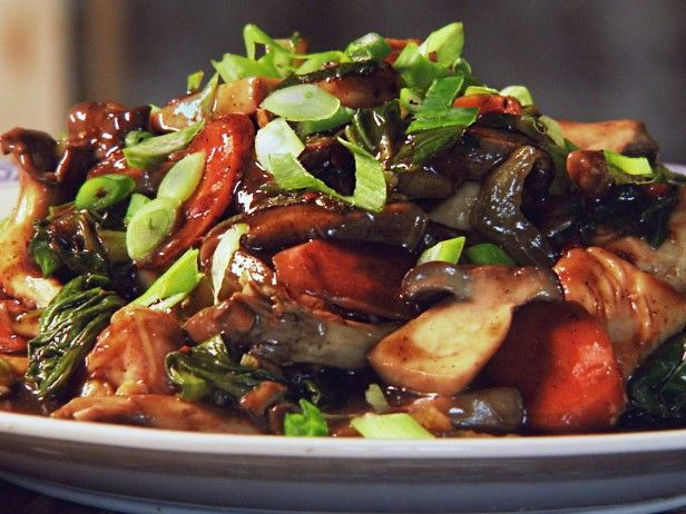 Posh Chopped Suey (Fragrant Chicken and Mushroom Stir-Fry) from CookingChannelTV.com