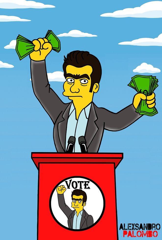 O Τσίπρας έγινε Simpson και κόβει κεφάλια πλουτοκρατών [εικόνες] | iefimerida.gr