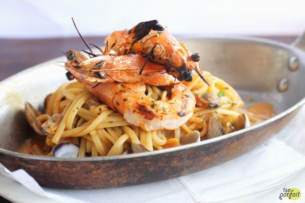 seafood #fettucine :: Mauro Cafe at Fred Segal, Los Angeles