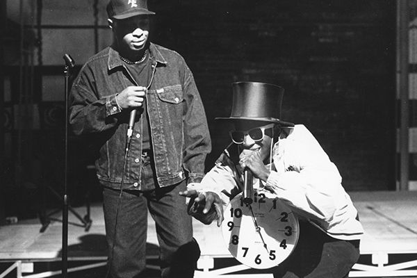Chuck D and Flavor Flav of Public Enemy perform in New York City.