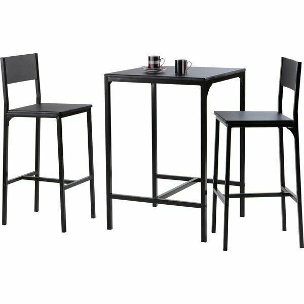 Kitchen High Bar Table Chairs Set Wooden Square Top Bistro Counter Pub Dining Bar Table Bar Table Sets High Bar Table
