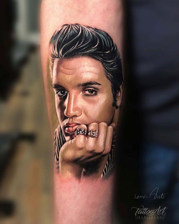 Elvis presley portrait tattoo tattoo ideas and