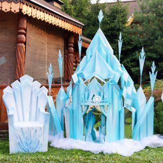 Замок Эльзы, ледяной дворец, трон в аренду