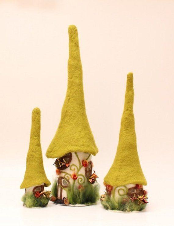 Felt Felt Lamp House Lamp A House In The Spring Fresh Green Living Gift Filzhaus Filzarbeiten Und Weihnachtliche Filzideen