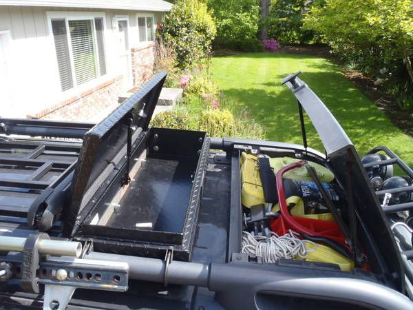 Locakble box on the roof rack would be sensible if no roof box.