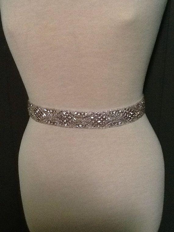 All around beading Bridal belt wedding belt by MyMothersDaughter60, $195.00