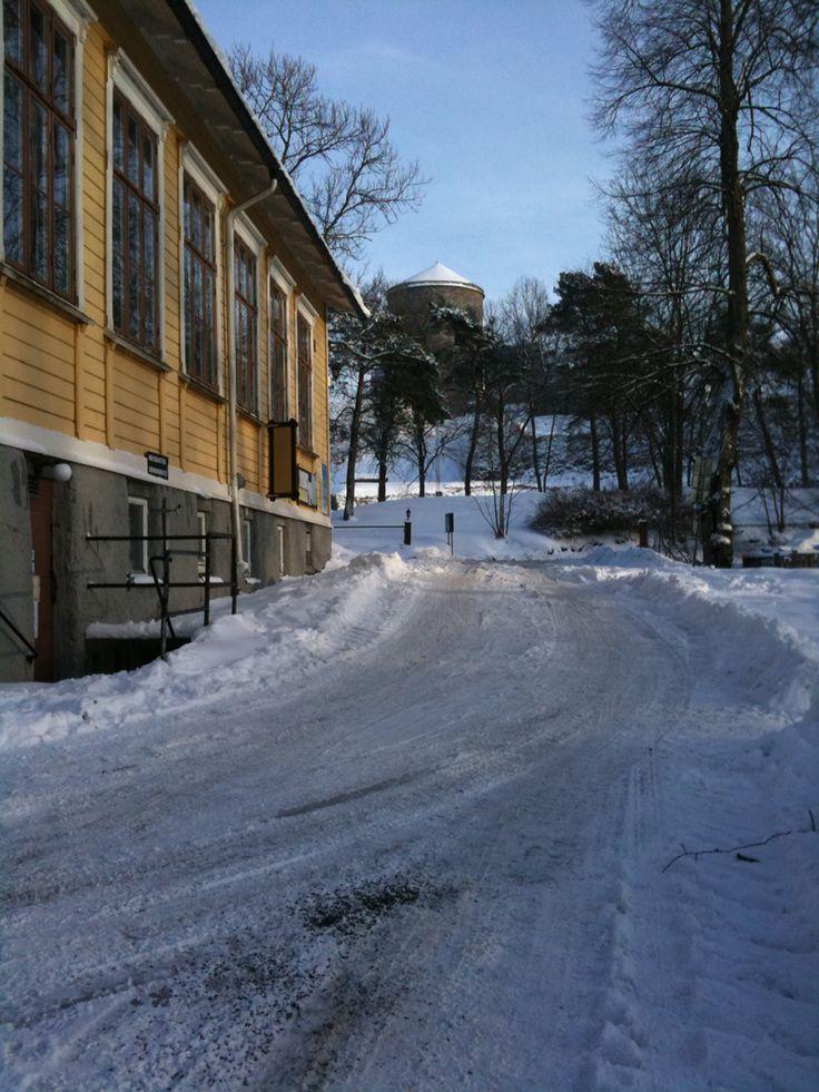 Vinter på Kungälvs vandrarhem & camping
