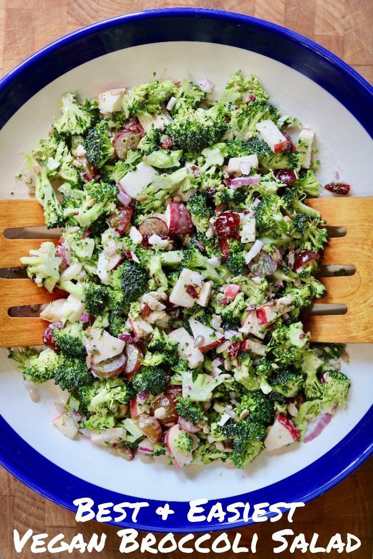 Das beste und einfachste vegane Brokkolisalat-Rezept   – Recipes – #beste #BrokkolisalatRezept #das …