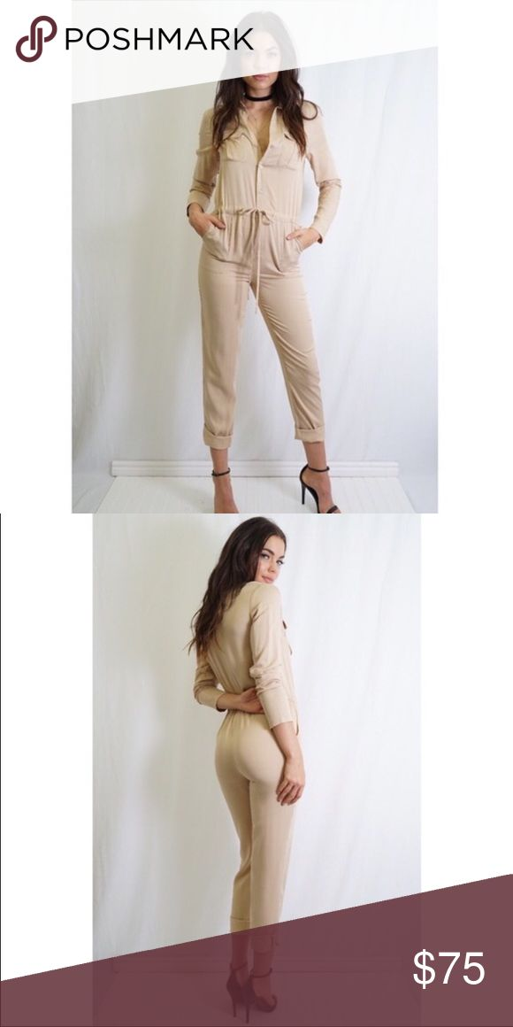 🆕Camel Jumpsuit NWT Camel Jumpsuit. Off duty style. NWT. Tea n Cup Pants Jumpsuits & Rompers