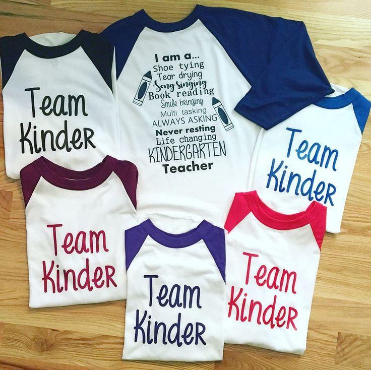Kindergarten teacher shirts, team kindergarten, baseball tee, custom shirts, teacher shirts, pre-k shirts by PTCDesignArts on Etsy