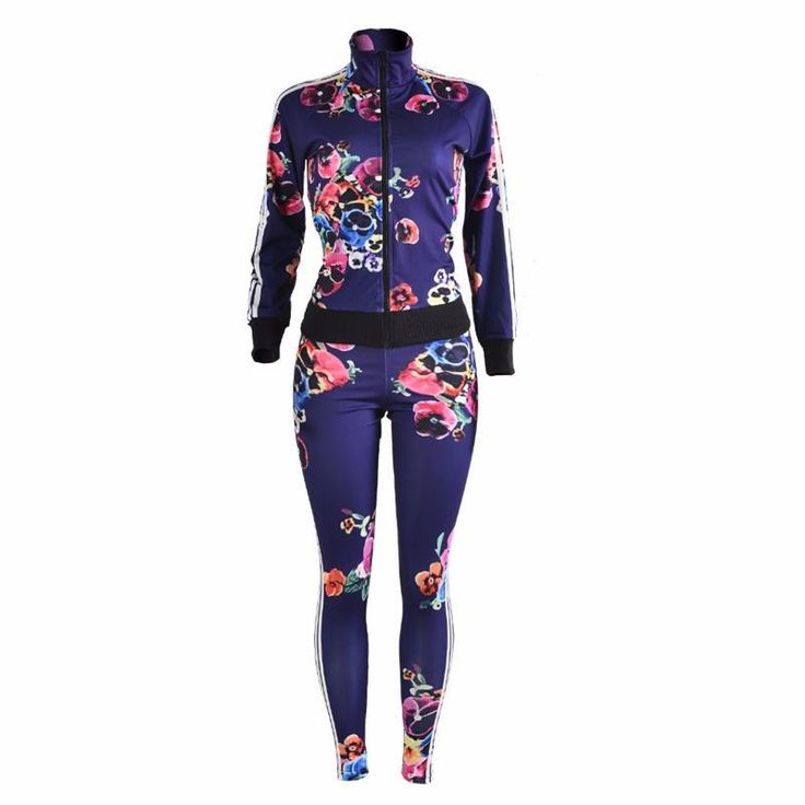 New Fashion print  two piece Tracksuitspant and top Casual sexy women jacket Long sleeve ensemble femme 2 piece set women #Affiliate