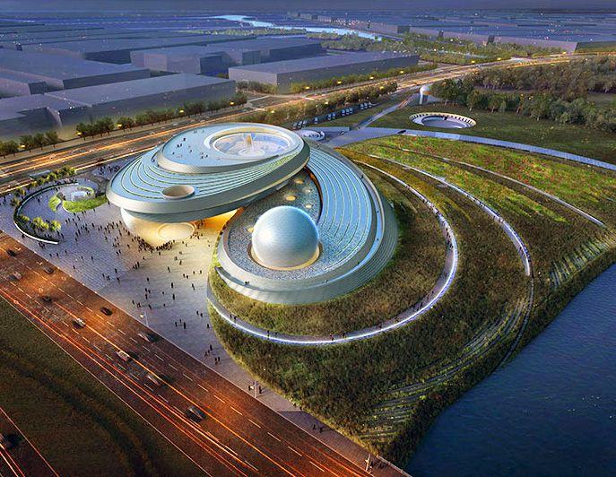Ennead Architects unveil futuristic designs for spiraling Shanghai Planetarium | Inhabitat - Sustainable Design Innovation, Eco Architecture, Green Building