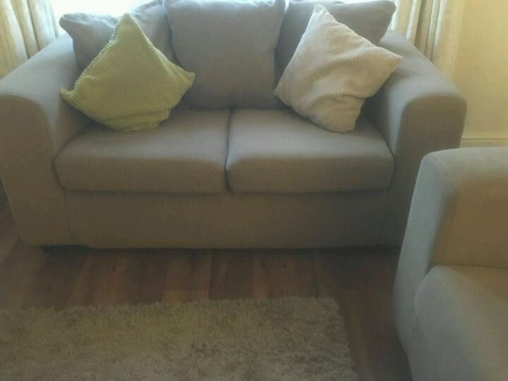 Biscuit colour cushion back three seater & two seater sofa on Gumtree. Three seater & two seater sofa cushion back. Excellent condition ,non smoker home. No time wasters p