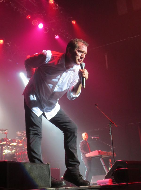 Andy McCluskey of OMD performing at Terminal 5 in New York City, July 2013.