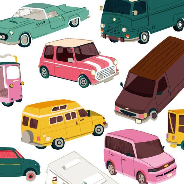 A Car A Day by Lindsey Balbierz, via Behance
