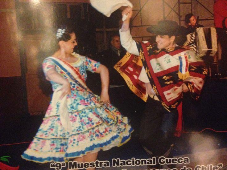 Daniela Isabel Jorquera Reyes y Erwin Enrique Bergmann Gallardo, ganadores del 11º Campeonato Nacional de Conjuntos y Clubes de Cueca y Folclor, Río Negro