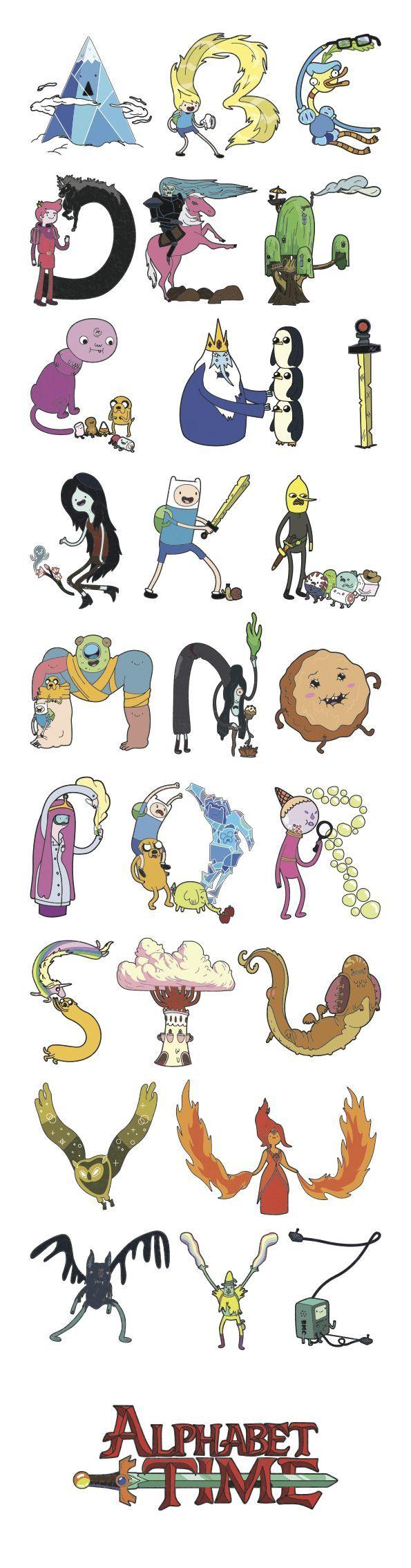 Adventure Time Alphabet By Jobi Gutierrez Via Behance
