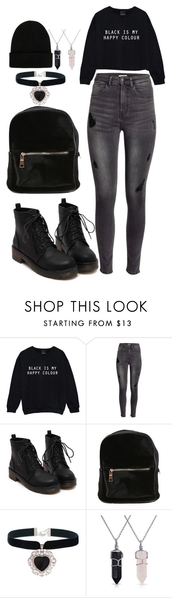 """my everyday tomboy look"" by chap15906248 ❤ liked on Polyvore featuring H&M, Rock 'N Rose, Bling Jewelry and NLY Accessories"