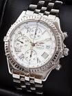 Breitling Crosswind Chronograph SS B13355 White Roman Dial 43mm Box