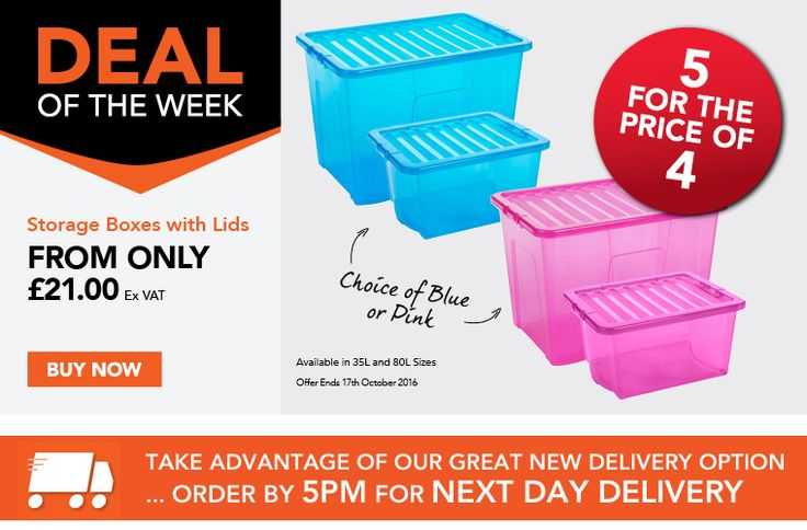 Great 5 for the price of 4 storage boxes offer