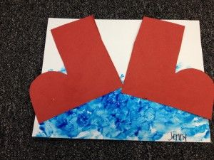A Red Rubber Boot craft for a Story time about rain.