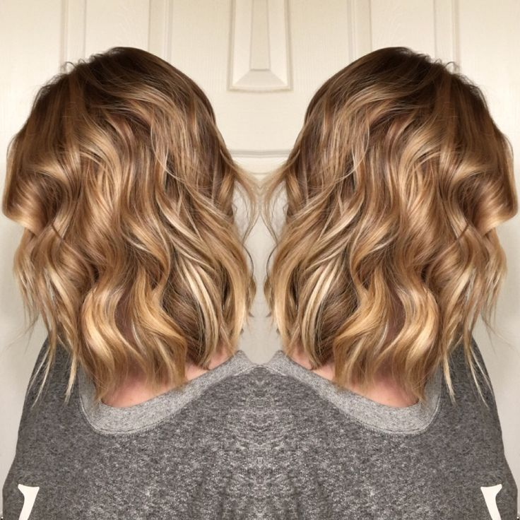 Honey Blonde Balayage Short Hair