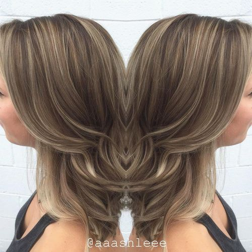 ash+brown+hair+with+thin+highlights