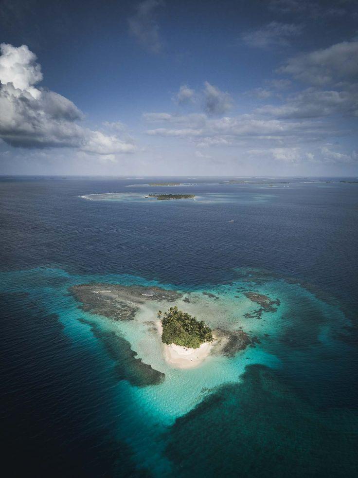 San Blas Islands Panama - Heart shaped Island