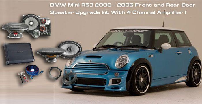 Speaker Upgrade Kit With Amplifier Bmw Mini R53 Best Car Audio Speakers Amplifier 4 Channel