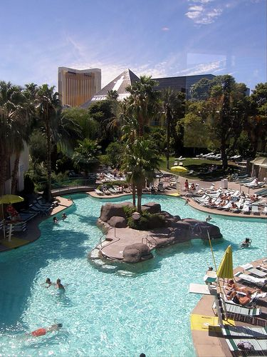 The Tropicana Pool in Vegas- only hotel pool open 24/7. I've had some really good times in that pool. ;)