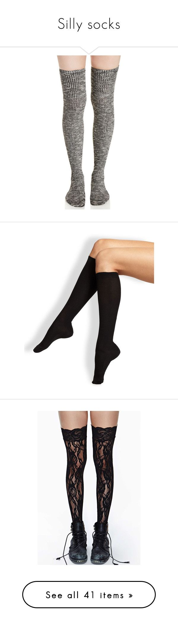 """""""Silly socks"""" by areyouacrow ❤ liked on Polyvore featuring intimates, hosiery, socks, accessories, thigh high knit socks, knit socks, thigh high socks, thigh high hosiery, tights and tie-dye socks"""