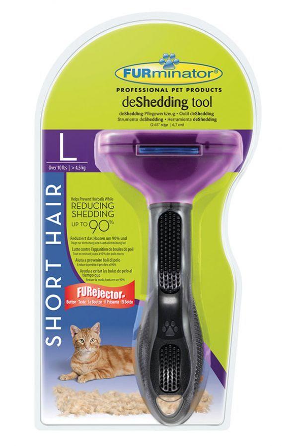 Furminator deShedding Tool für kurzhaarige große Katzen