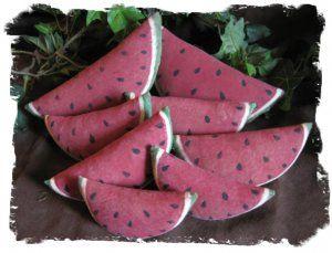 primitive watermelon slice | Primitive Small Mini Watermelon Slices E-Pattern