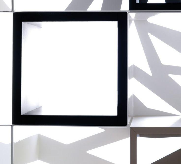 OPEN FREESTANDING SECTIONAL BOOKCASE DOMINO COLLECTION BY ESEDRA BY PROSPETTIVE | DESIGN FABRIZIO BATONI