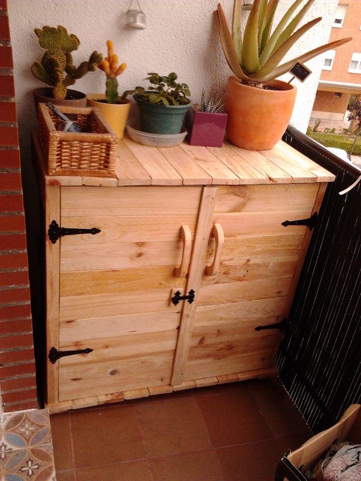 Armario hecho con madera de palets pallets palets - Armarios hechos con palets ...