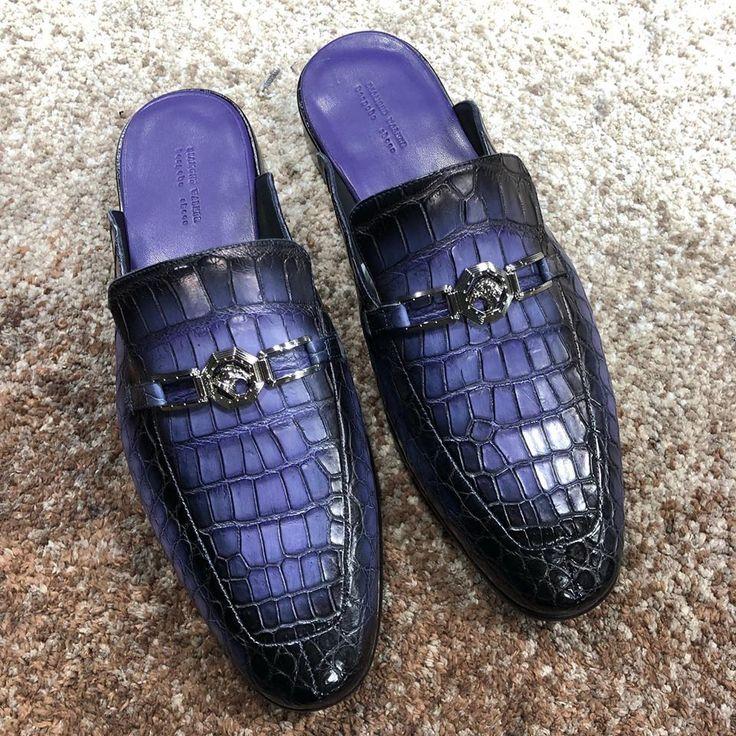 Alligator Leather Horsebit Slipper for Men in 2020