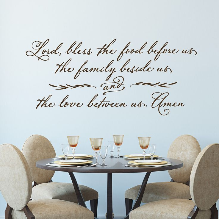 Lord, Bless The Food Before Us   Wall Decal   Christian Wall Decor   Prayer Part 36