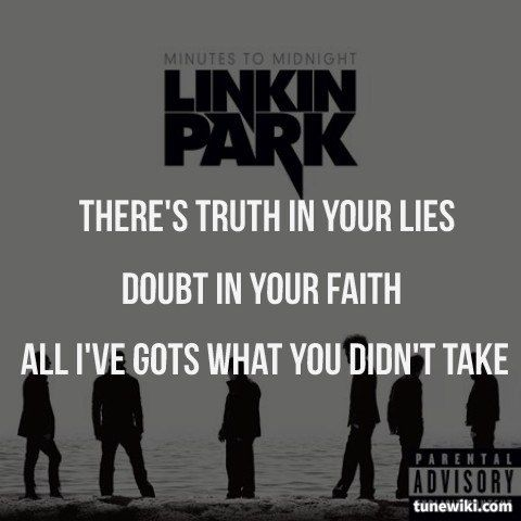 """-- #LyricArt for """"In Pieces"""" by Linkin Park"""