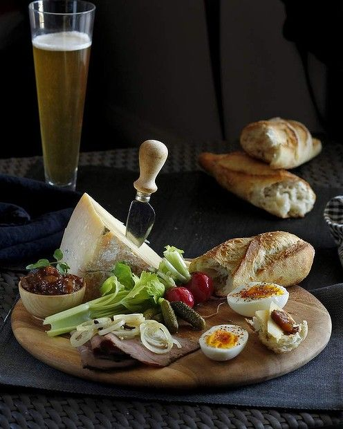 Ploughman's platter - No Recipe, Just Have To Glean Ideas From Photo.