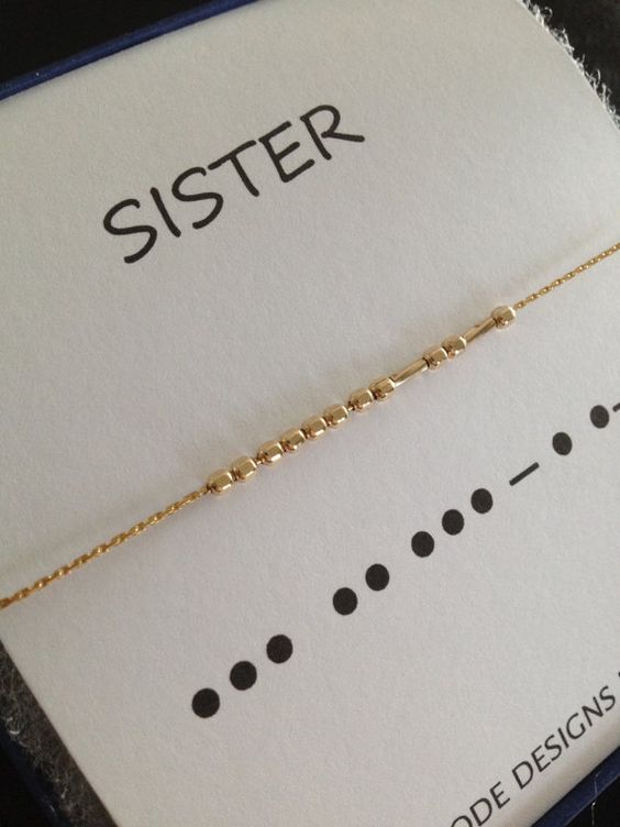 Celebrate the bond that only sisters share, with these lovely Morse Code bracelets.    Original Morse Code bracelets feature 14k Gold Filled: