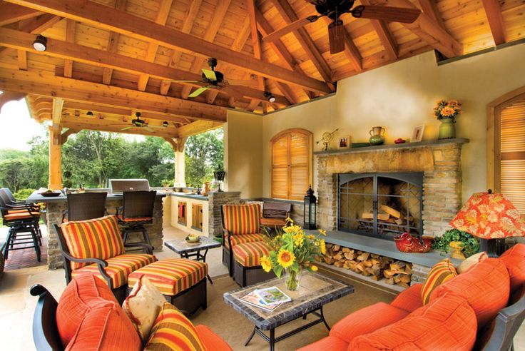 beautiful outdoor living space | Pools/Cabanas & Other ... on Beautiful Outdoor Living Spaces id=51308
