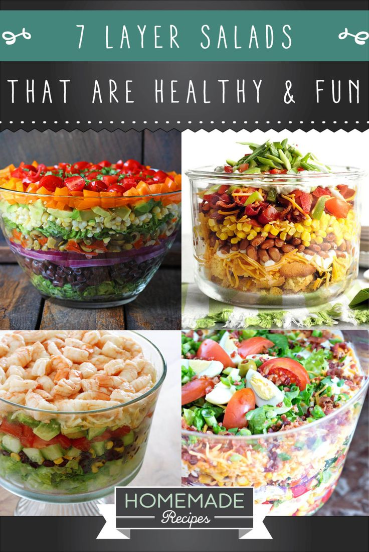 10 7 Layer Salad Recipe That Make Fun And Healthy Lunches | http://homemaderecipes.com/7-layer-salad-recipes/