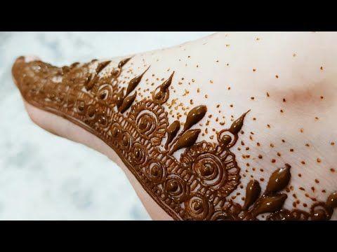 Arabic henna design with shading on backside 2017 - YouTube