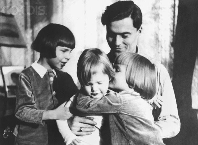 Claus Graf Schenk von Stauffenberg with his children - 42-16677183 - Rights Managed - Stock Photo - Corbis