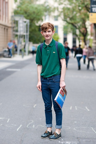Lacoste Green Polo, Cheap Monday Skinny Jeans, Asos Boat Shoes