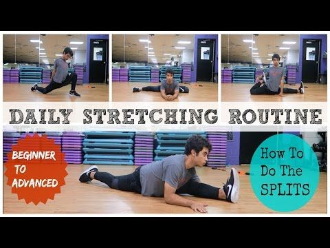 daily stretching routine how to do the splits beginner