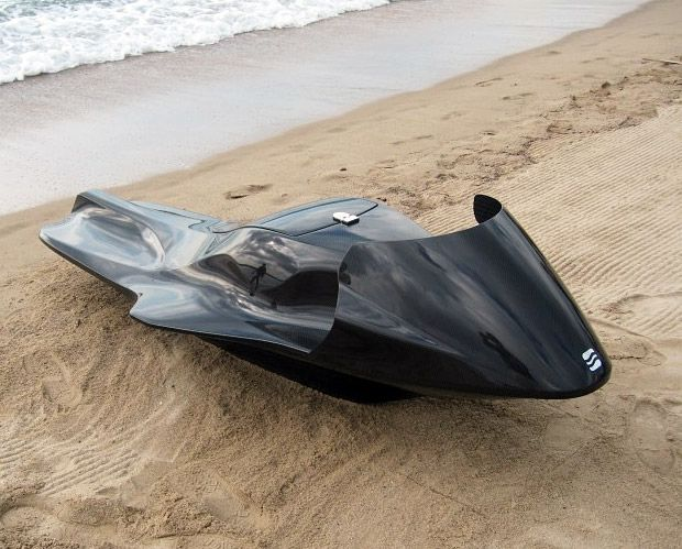 EXO Jet-Ski  Everybody hates Jet-Skis. Even the people who ride them. It's because they stink, they're noisy and their cooling systems pump fresh water through the engine before spitting it back out as polluted water. The zero emissions, zero pollution EXO Concept is a new breed of clean-running Jet-Ski that may just signal a fresh, new chapter for the most hated watercraft of all time.- Werd.com