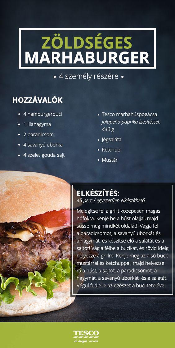Te is imádod a hamburgert? Készítsd el otthon! :) #hamburger #finom #recept #tesco #tescomagyarorszag